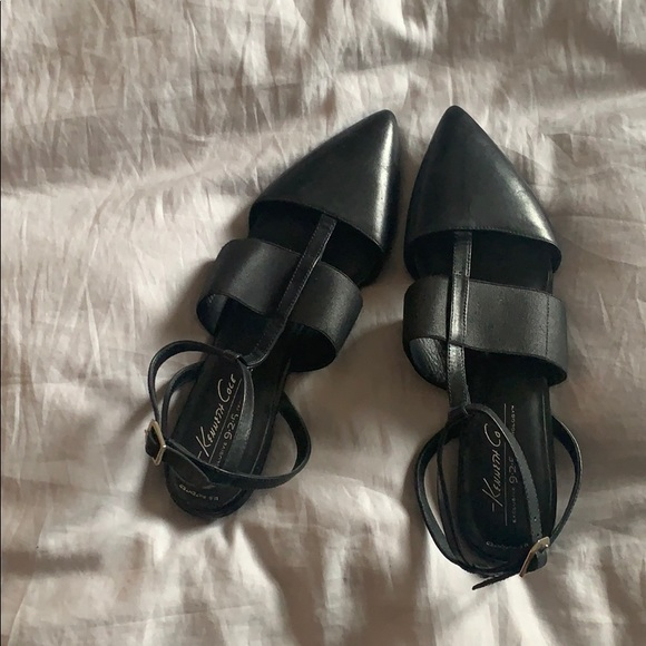 Kenneth Cole flats with ankle strap, size 7